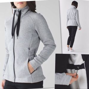 LULULEMON &GO TAKE OFF FLEECE GREY JACKET SZ 4